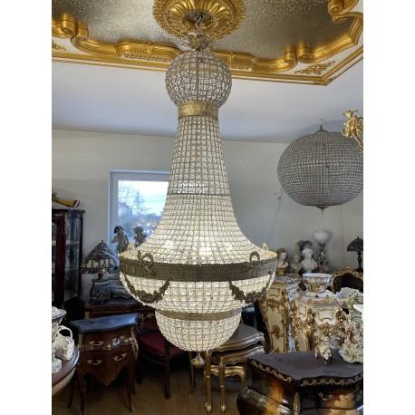 PAŁACOWY ŻYRANDOL GRUSZKA duża LAMPA kryształ 170
