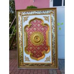 ROZETA złoto- bordowa 140x200cm