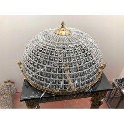 Kryształowy PLAFON z mosiądzemDUŻY 60 cm