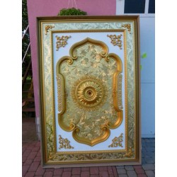 ROZETA biało - złota 140 x 200cm